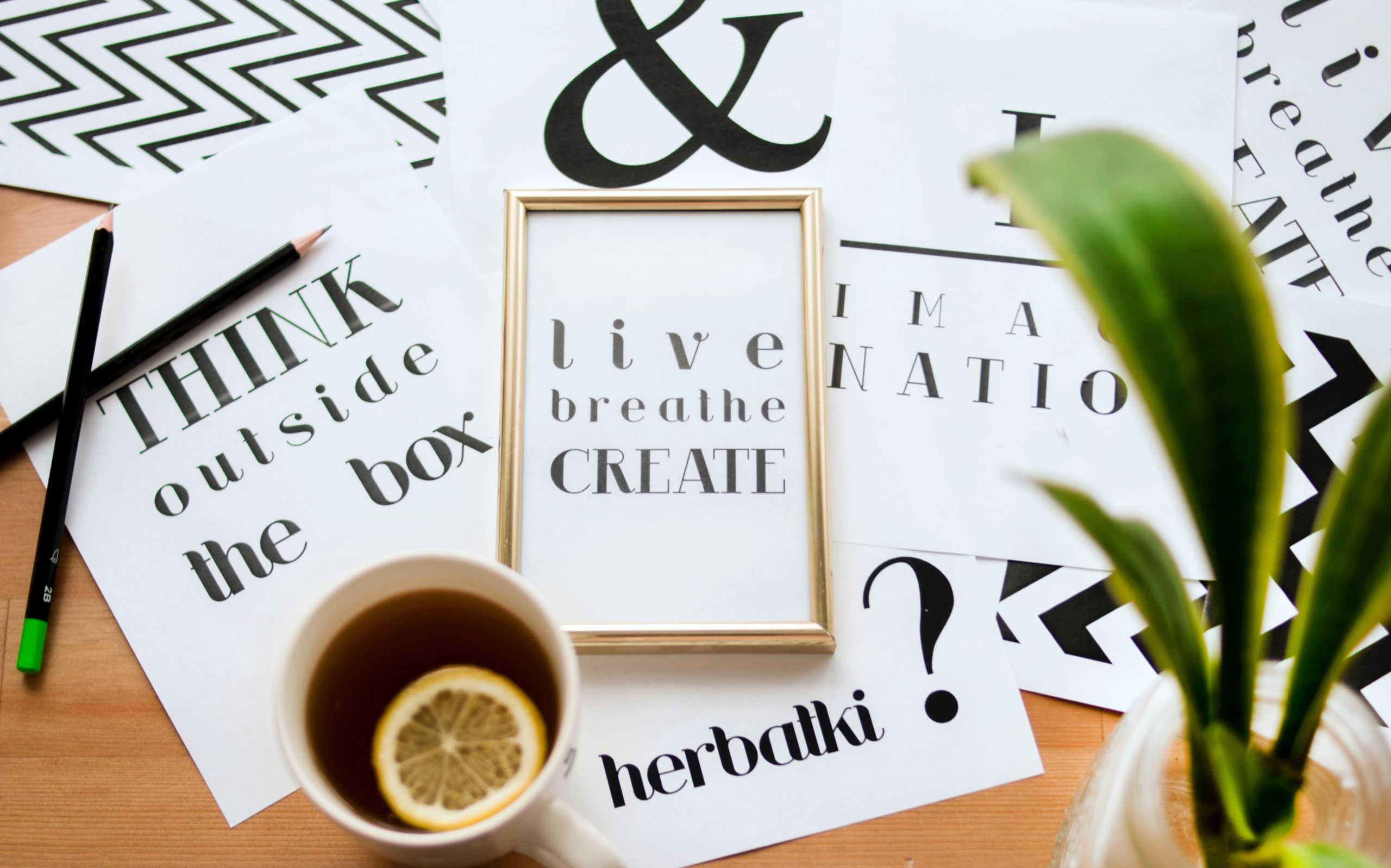 Printed Typography Graphic Design Projects