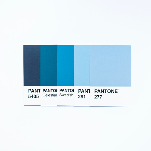 5 Blue Pantone Swatches