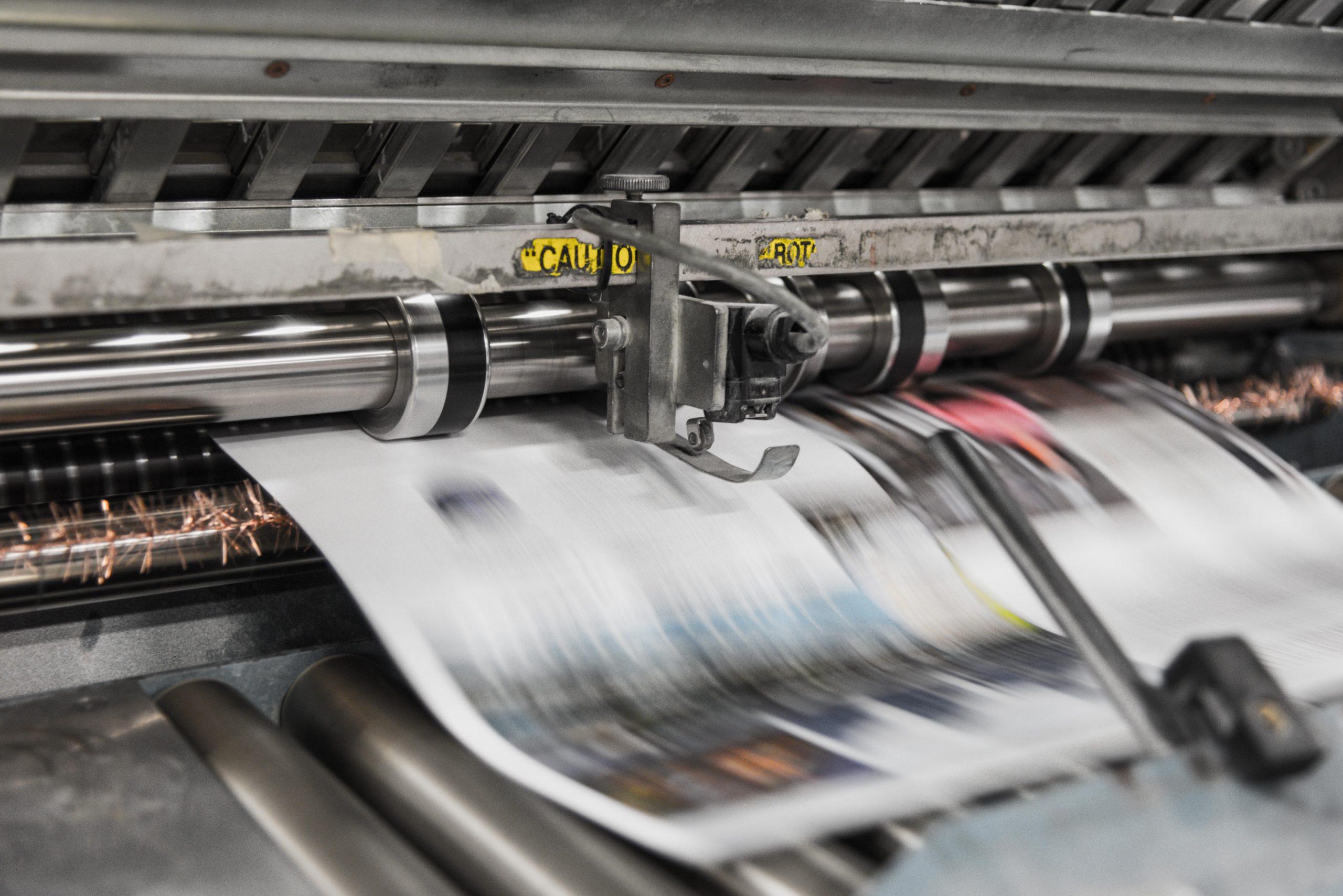 Modern Printing Press Running Color Print