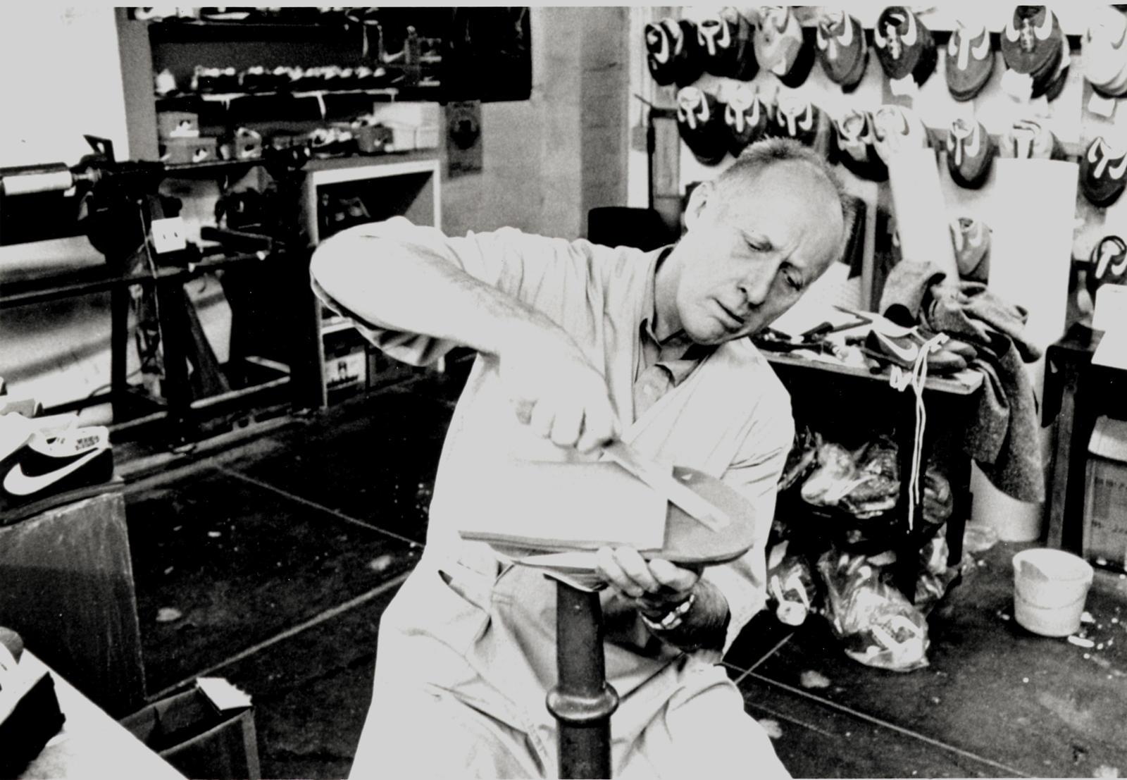 Bill Bowerman in His Workshop, Creator of Nike