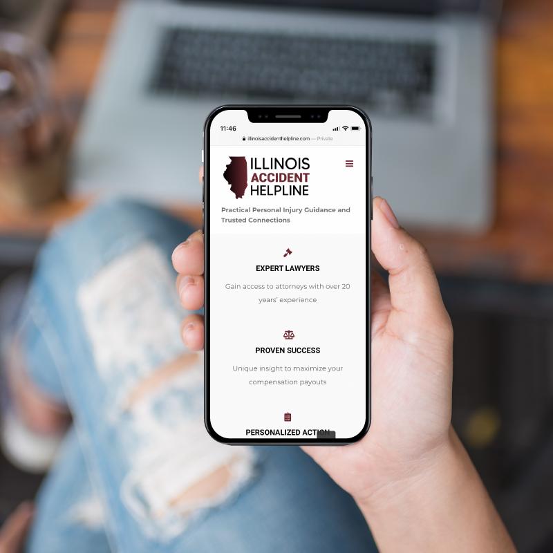 Illinois Accident Helpline Website Design