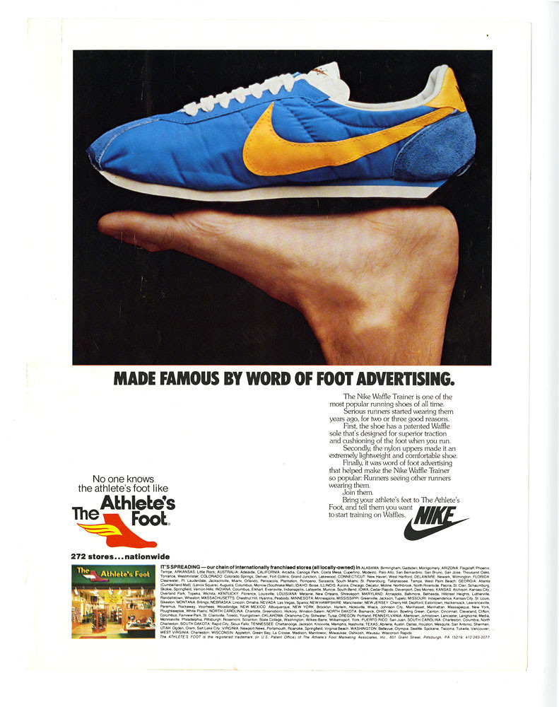 Nike Advertisement for The Athlete's Foot