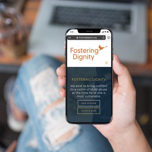 Fostering Dignity Website Design on Smartphone