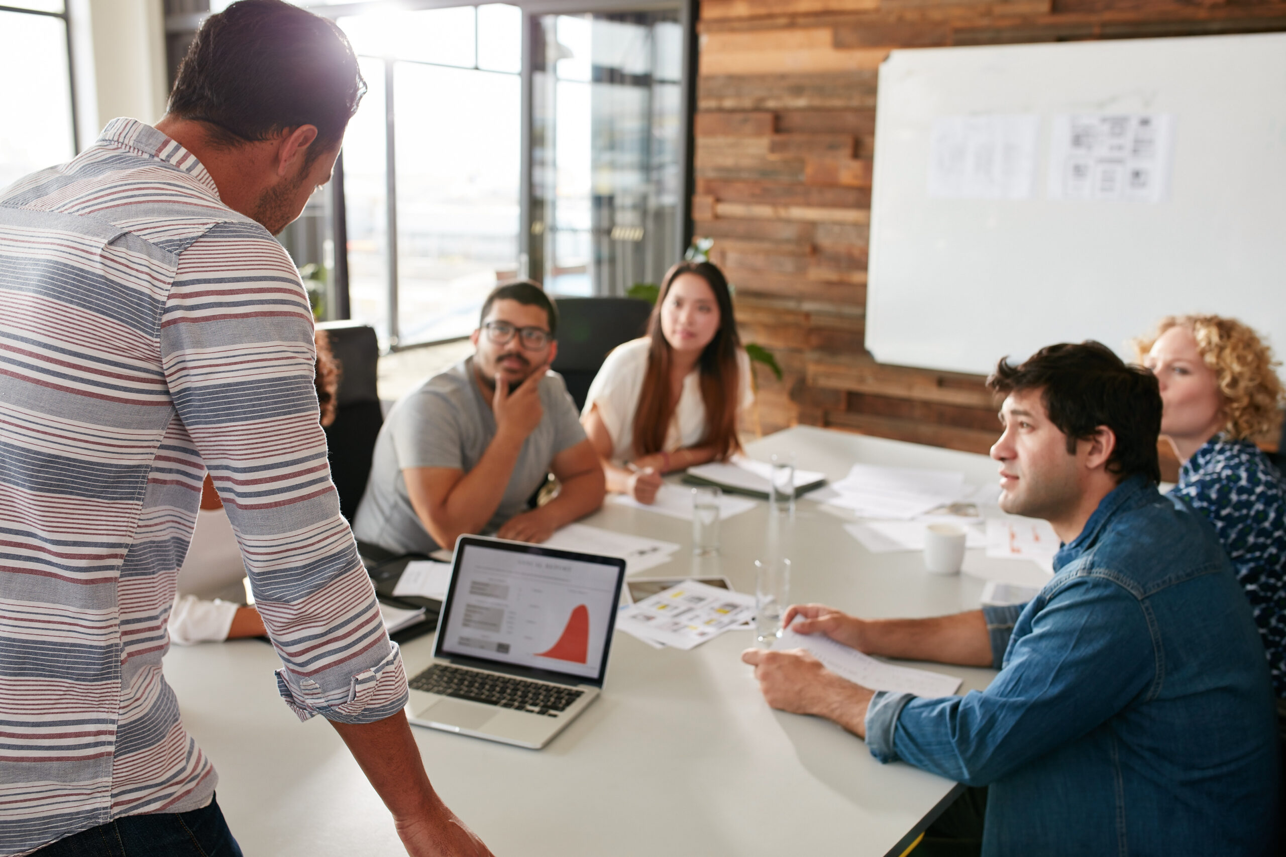 Marketing Team at Board Meeting
