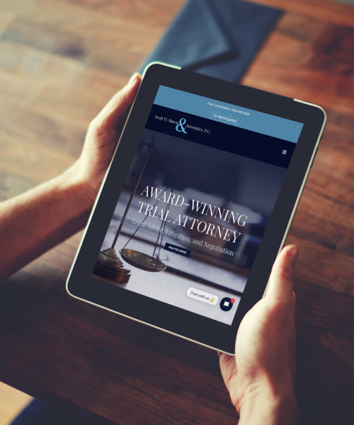 Scott W. Sheen & Associates Website Design on Tablet