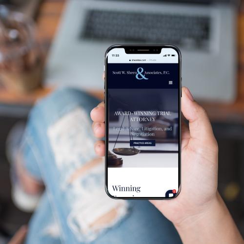 Scott W. Sheen & Associates Website Design on Smartphone
