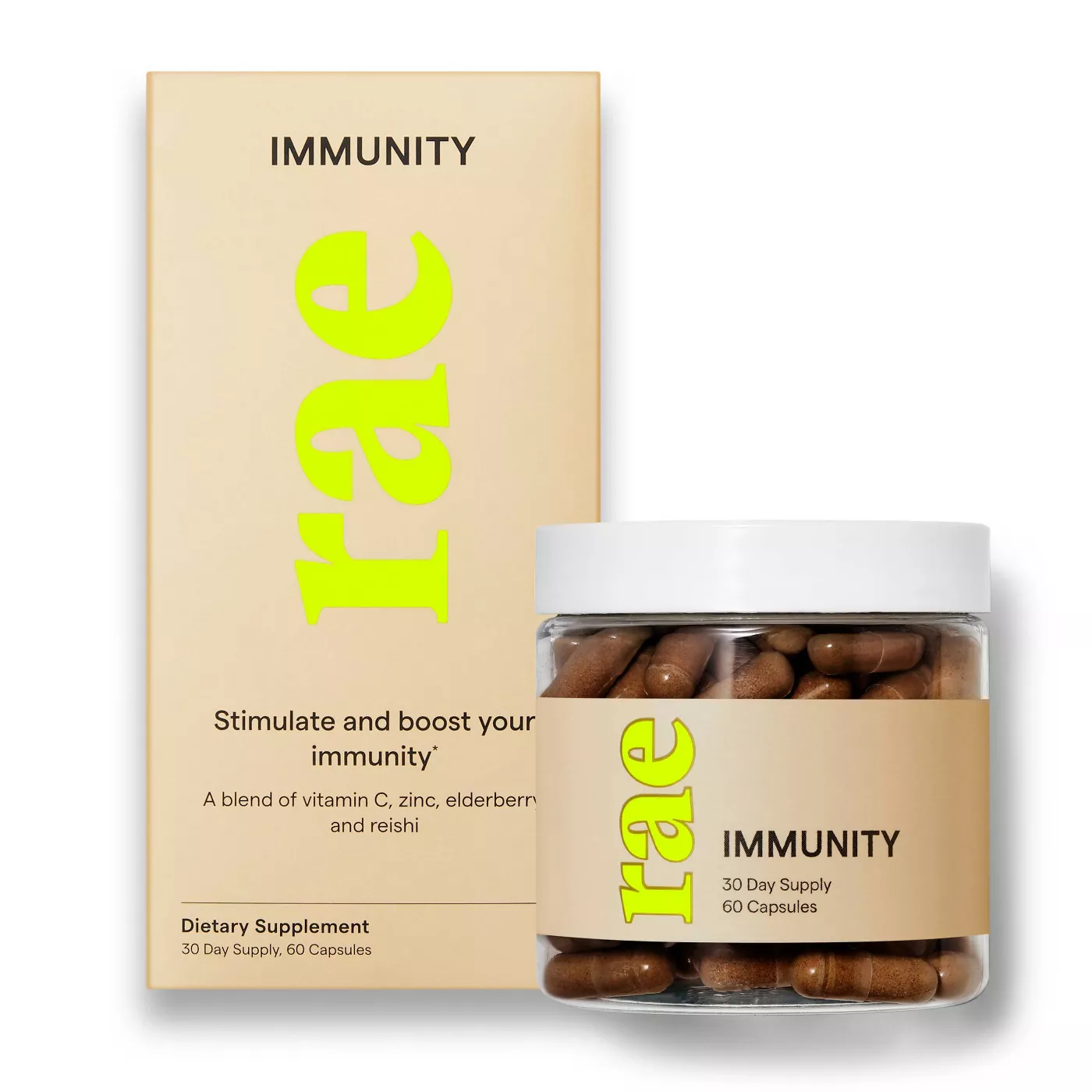 Rae Immunity Minimalist Branding