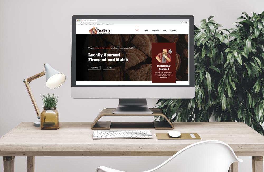 Deeke's Website Design on Desktop