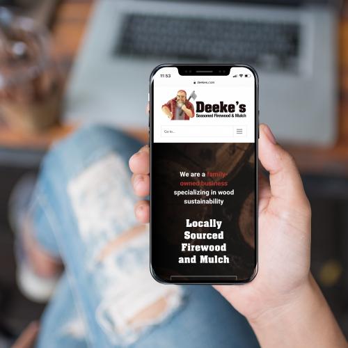 Deeke's Website Design on Smartphone