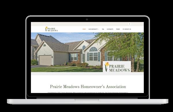 Prairie Meadows HOA Website Design