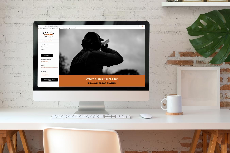 White Gates Skeet Club Website Design on Desktop