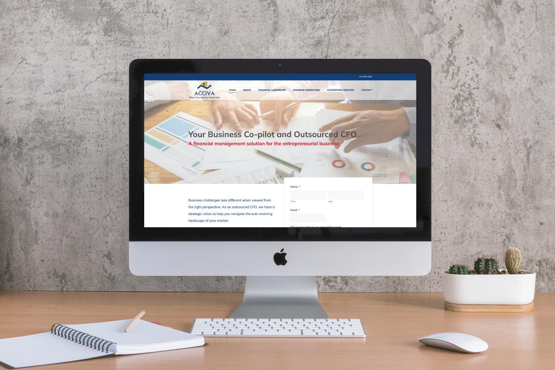 Acciva Website on Desktop Screen