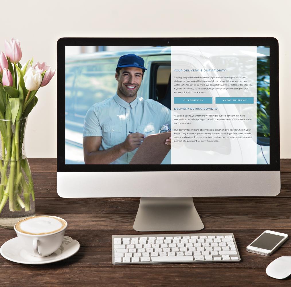 Salt Solutions Website on Desktop Screen