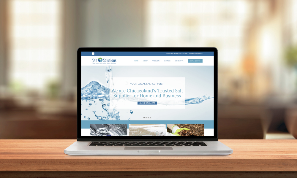 Salt Solutions Website on Laptop Screen