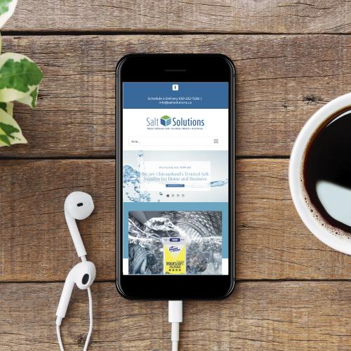 Salt Solutions Website on Smartphone Screen